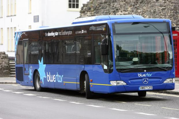 Daily Echo: Bluestar busses, near their staion on the Below Bar area of Southampton (30264597)