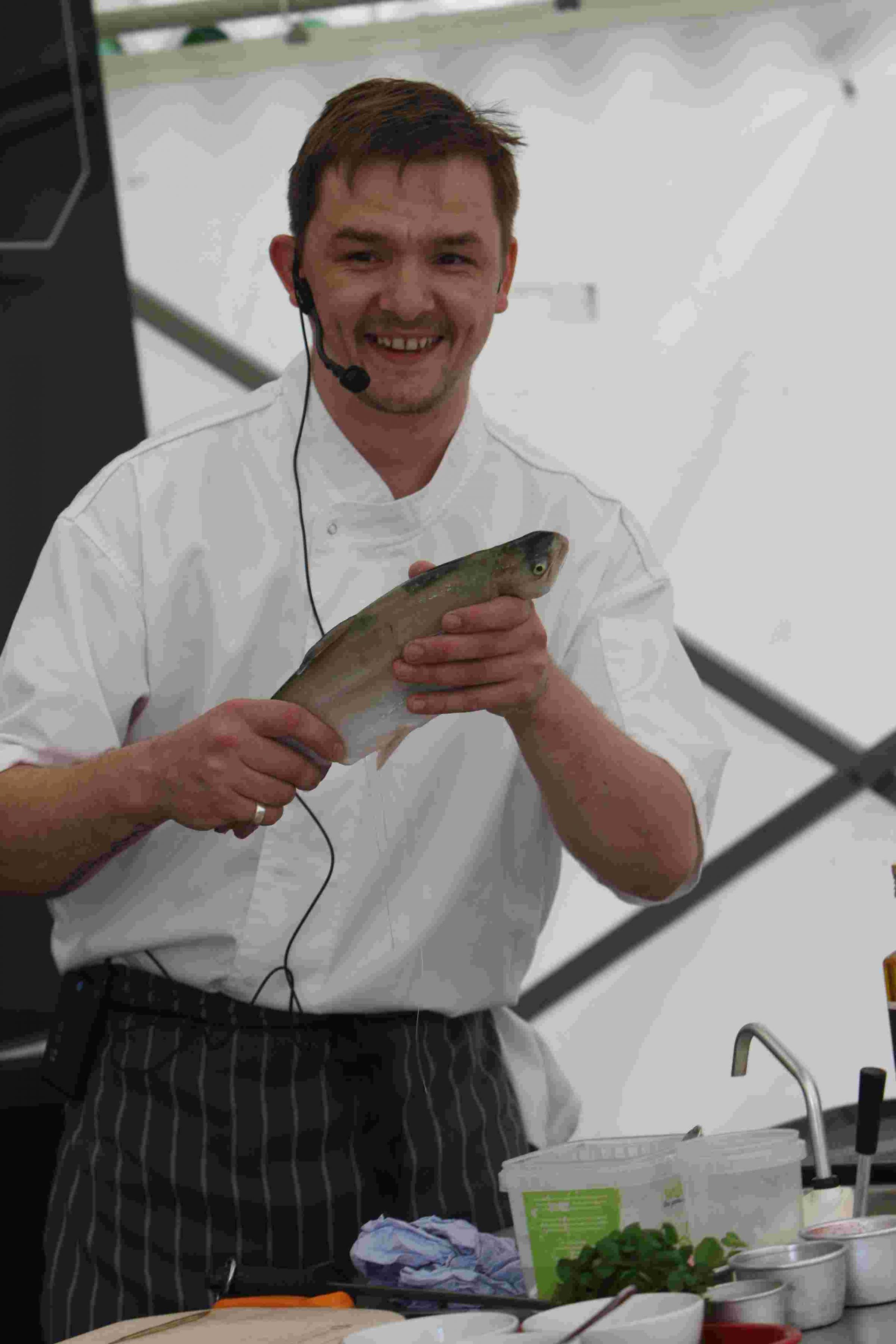 Fresh catch...Chef Damien Brown from Chesil Rectory
