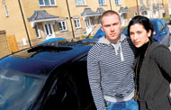 Richard Jones and Natasha Lewis, who claim their brand-new home in Wiltshire Crescent has had numerous problems