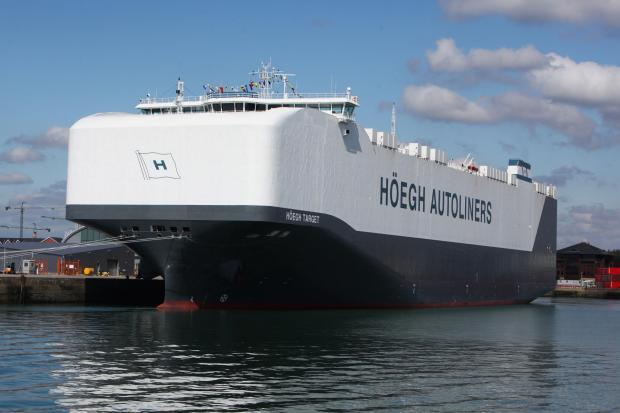Pictures and video of the world's biggest car carrier, Hoegh