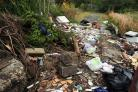 Stock image of flytipping