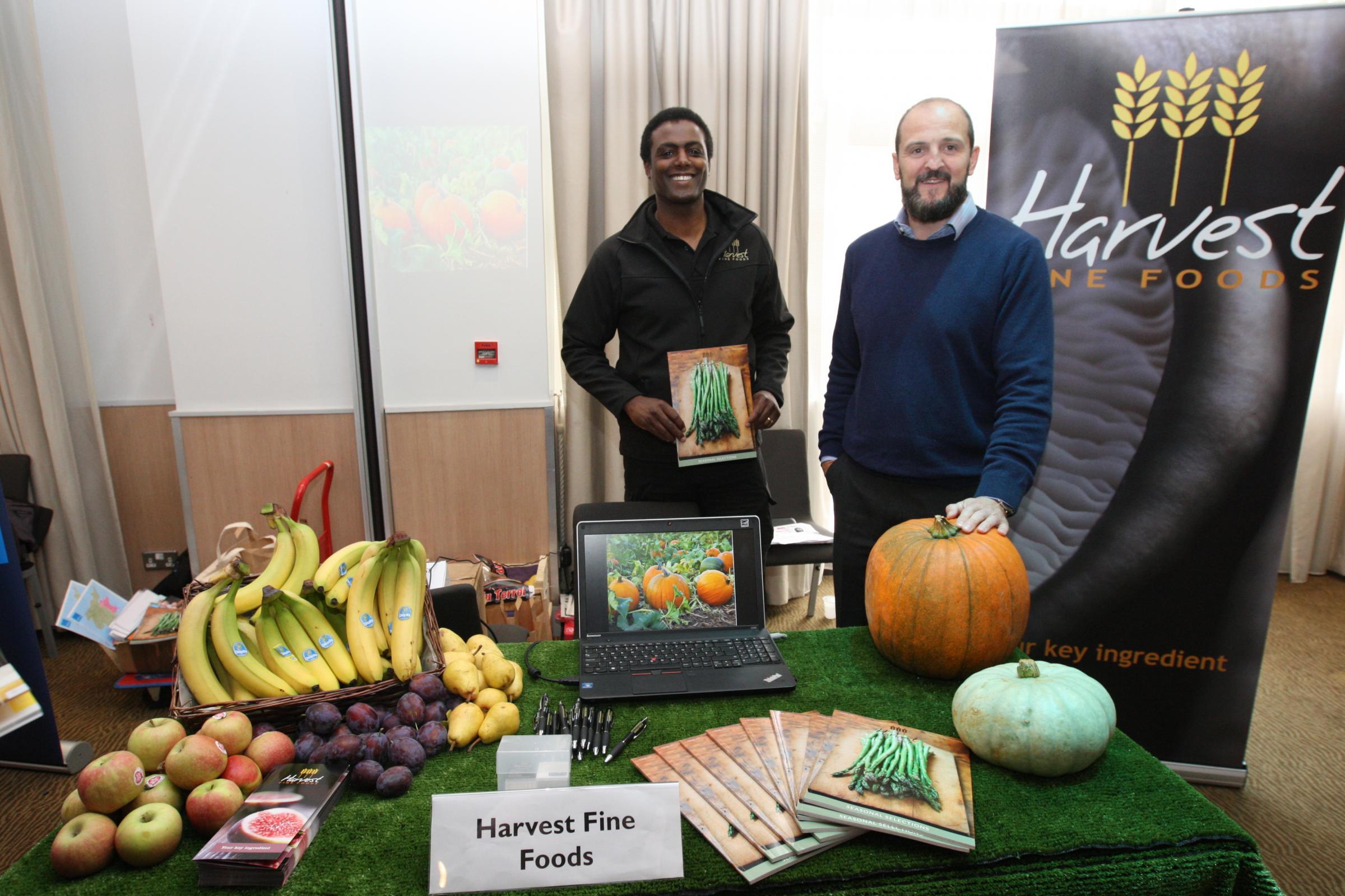 Darren Henry and Dr Richard Strongman from Harvest Fine Foods