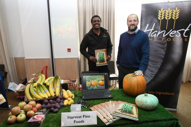 Darren Henry and Dr Richard Strongman from Harvest Fine Foods