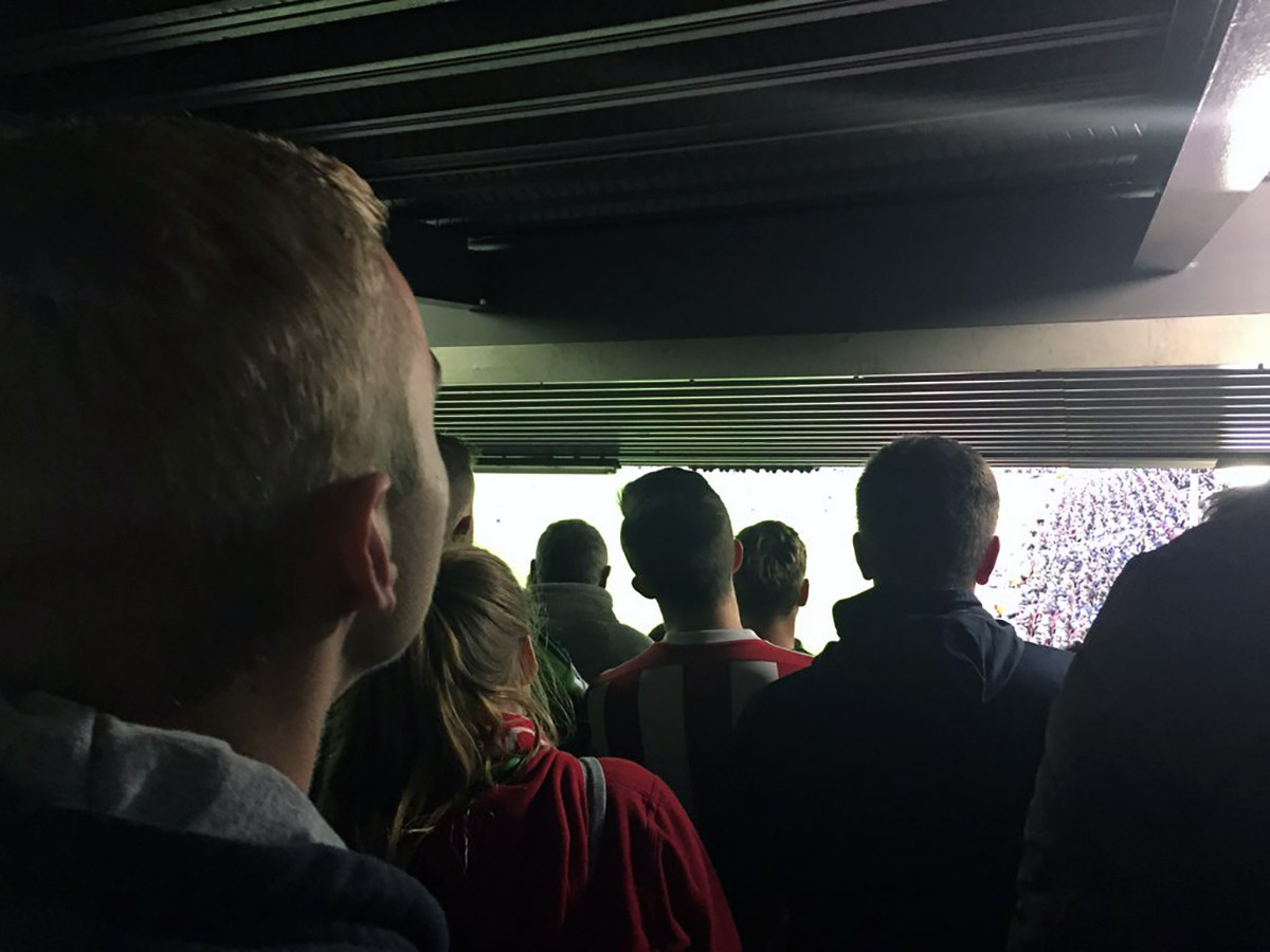 James Trinder's view at Anfield