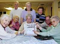 Day centre users sign the Daily Echo's Carers petition.Echo picture by Joanna Mann. Ordr no: 4496025