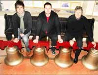 BELLRINGERS: From left  Mark Place, Paul Mason and the Rev Sarah Chapman.