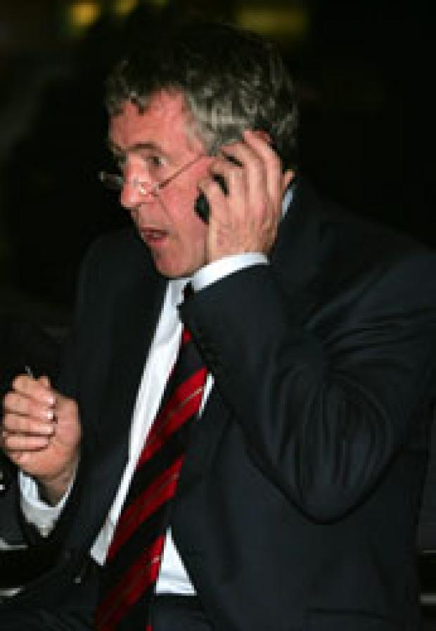 MP John Denham after the results were announced.