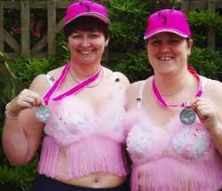 Lymington Belles Take An Odd Moonwalk In Pink Fluffy Bras Daily Echo
