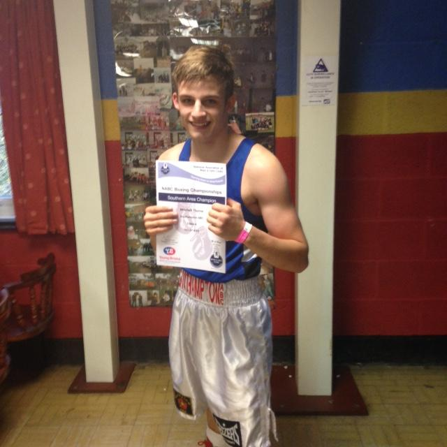 Mitchell Thorne is boxing champion