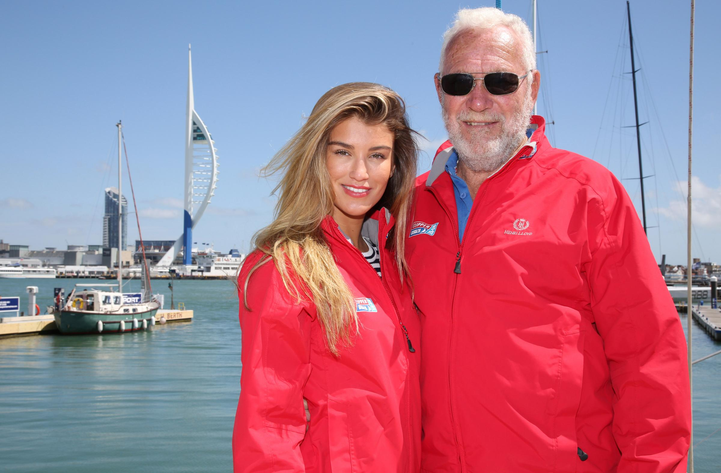 Amy Willerton poses for photographs as part of the Clipper Round the World Race with Robin Knox-Johnston Chairman of the Clipper Race. (46579136)