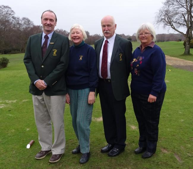 The line-up at New Forest Golf Club