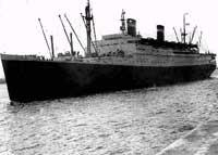 Atlantic Liner: Washington off Southampton Docks in the 1950s