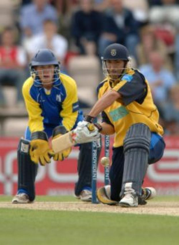 Daily Echo: Nic Pothas in action at the Rose Bowl today.