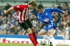 HEAD TO HEAD: Friendship counts for little as James Beattie and Wayne Bridge clash
