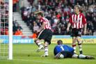 SO SWEET: James Beattie turns away after scoring Saints' first equaliser. Echo picture: Stuart Martin.