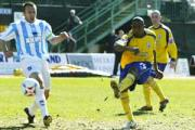GOAL: Ricardo Fuller slots home from ten yards out to open the scoring. Daily Echo picture by Paul Collins