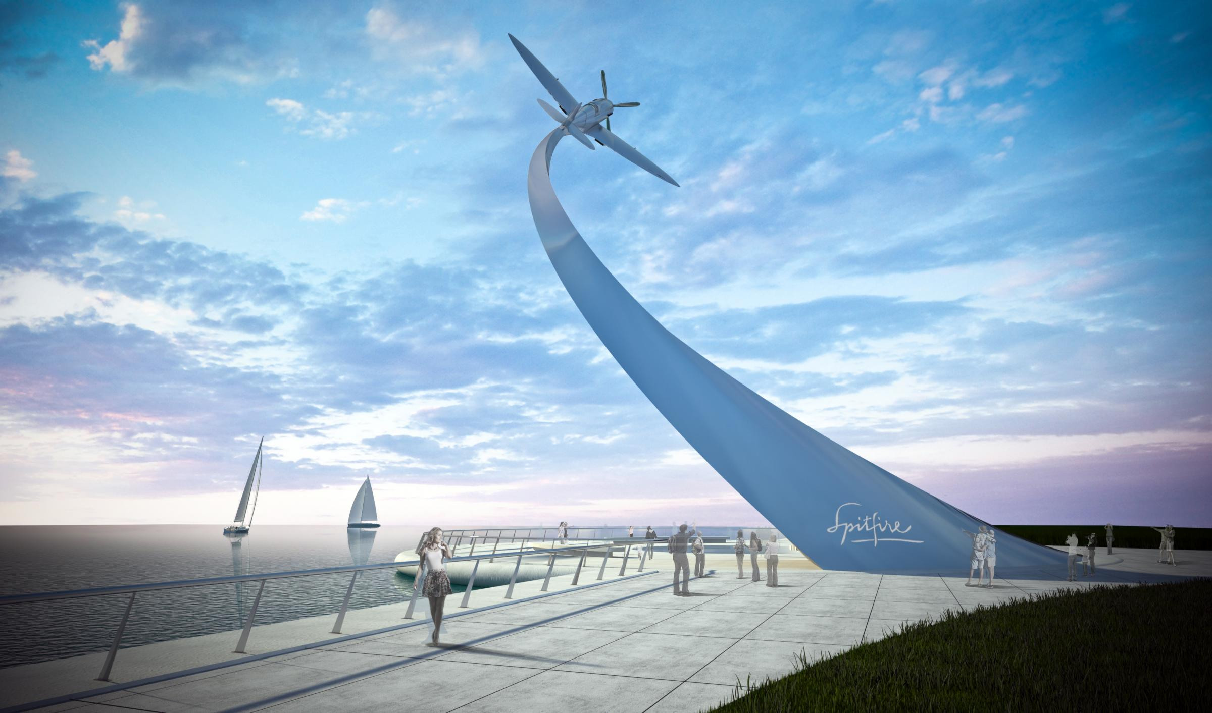 An artist's impression of what the monument could look like