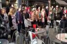 Flash mob proposal brings romance to city centre