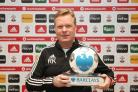 Ronald Koeman with his January Premier League manager of the month award