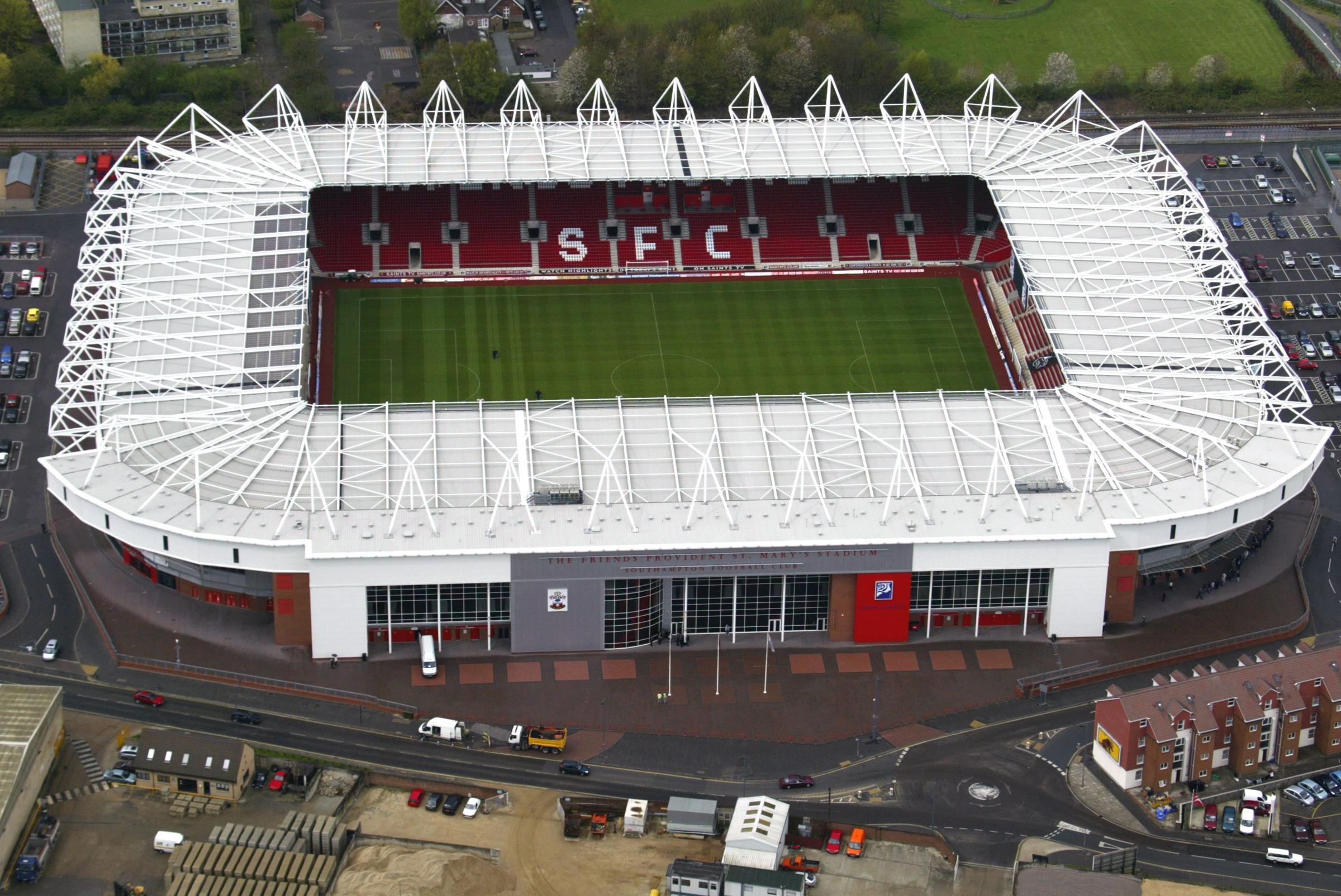 Bildergebnis für fotos vom st. mary´s stadium in southampton
