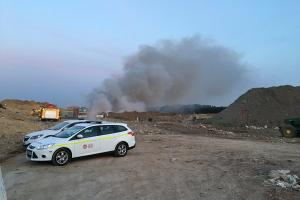 The landfill site in Ringwood. Photo by Hampshire Fire and Rescue Service