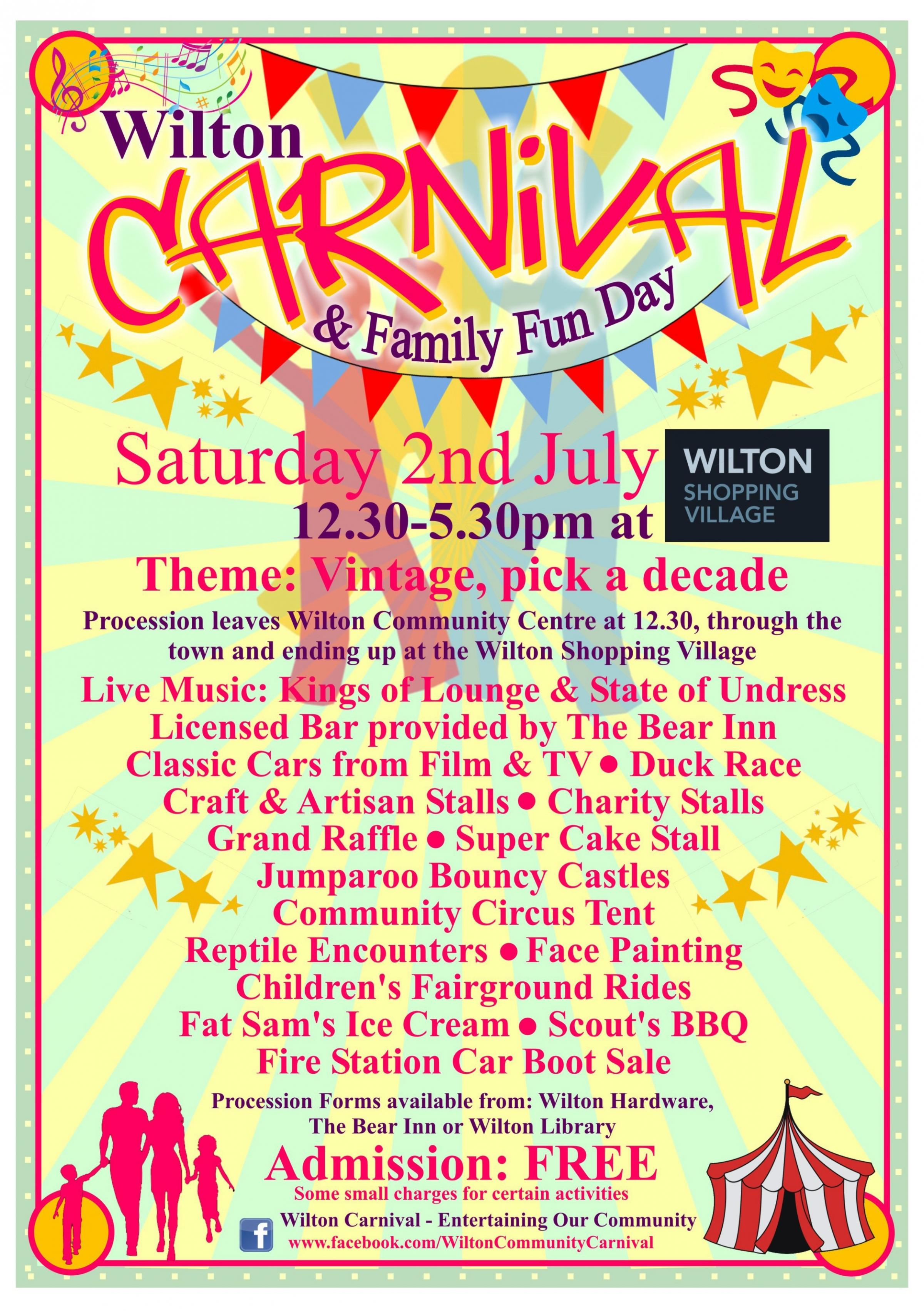 Wilton Carnival & Family Fun Day July 2nd