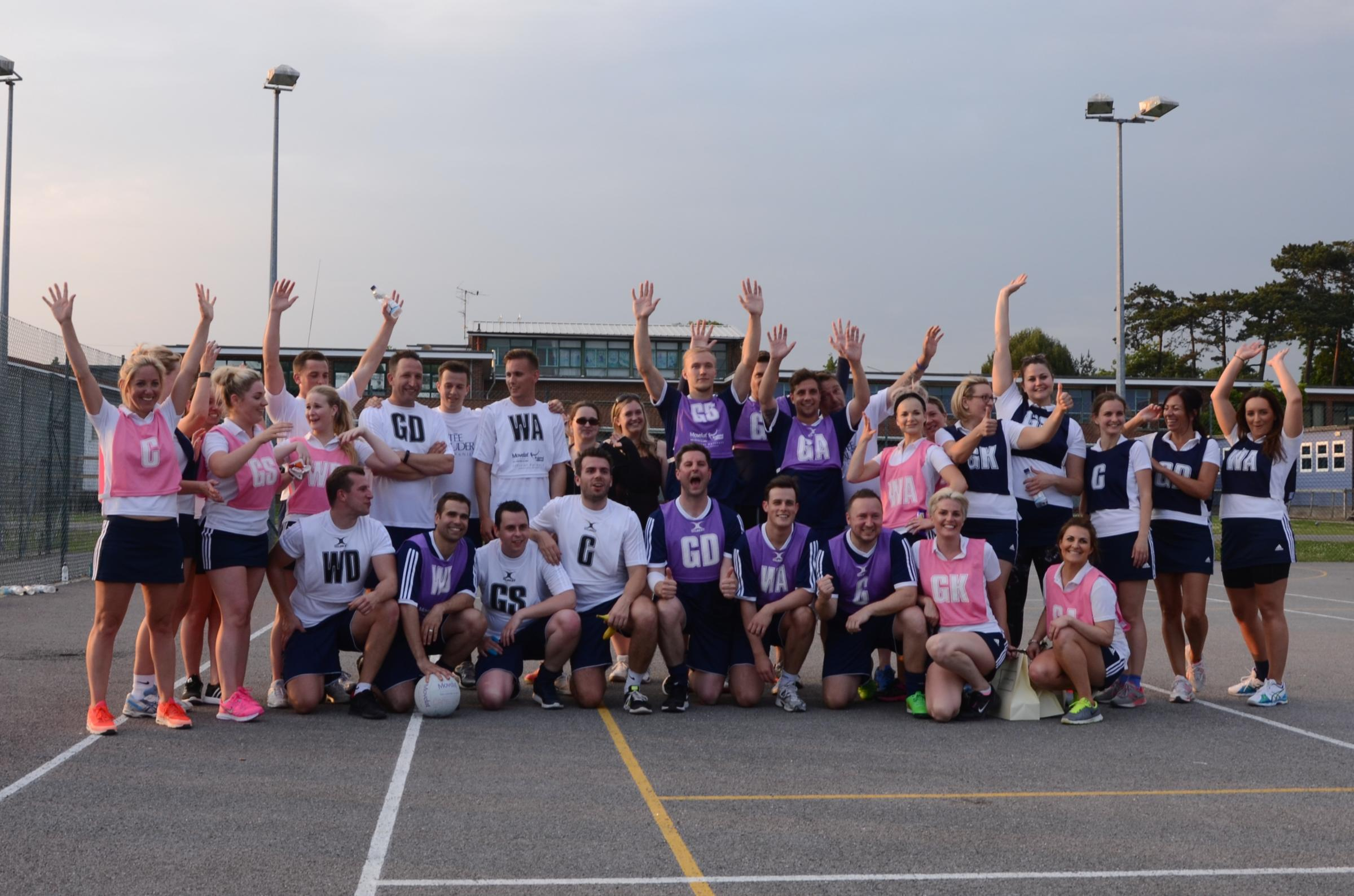 Staff from Estee Lauder at the netball competition