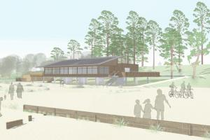 PHOTOS: See plans for new beach visitor centre - on stilts