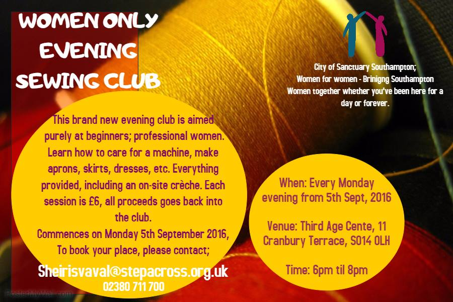 Women Only Evening Sewing Club