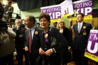 Diane James with Nigel Farage at the Eastleigh by-election