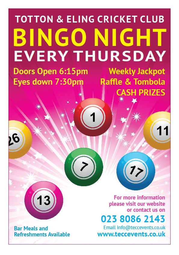 Cash Bingo - Every Thursday