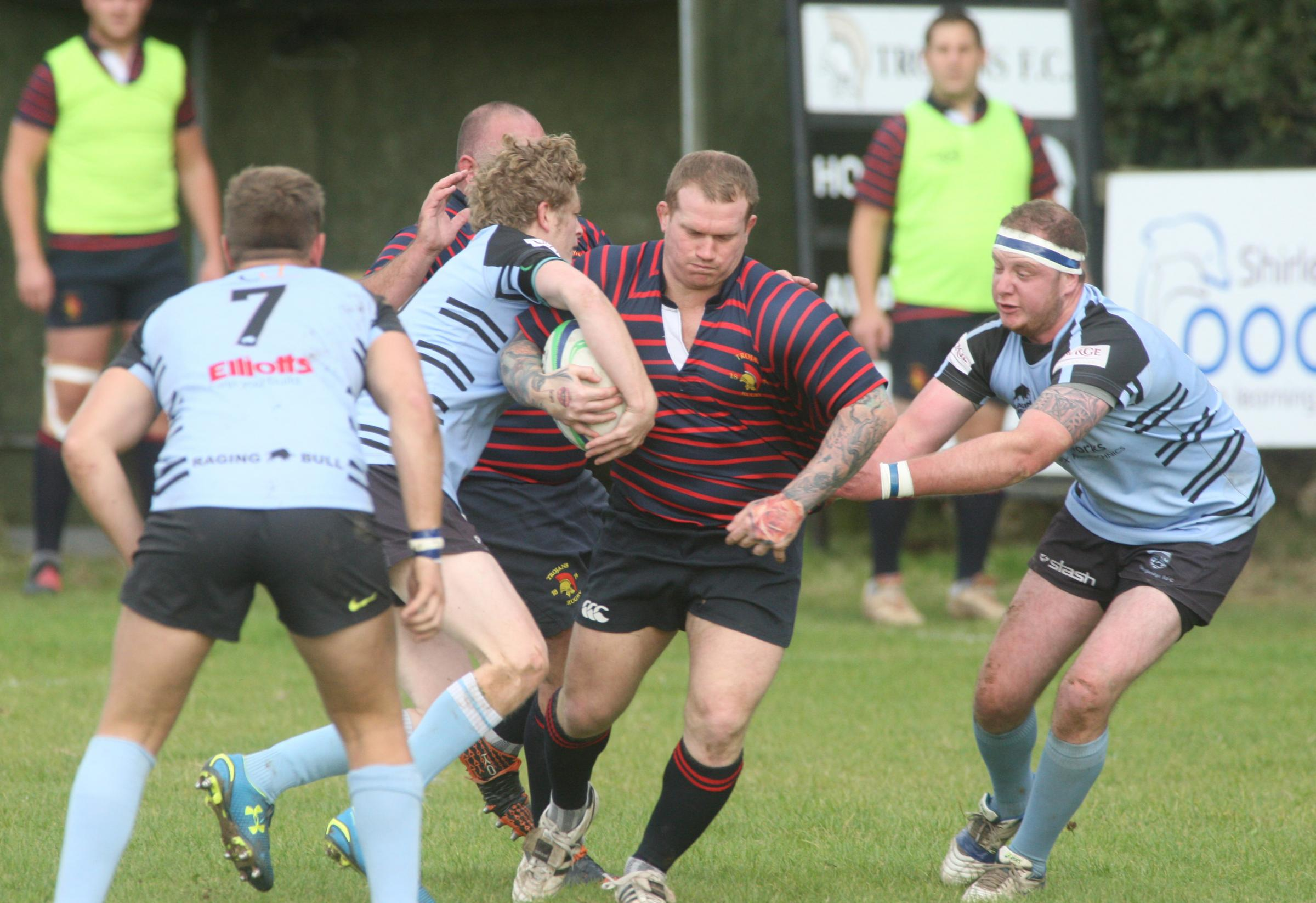 Action from Trojans' win against Fordingbridge.