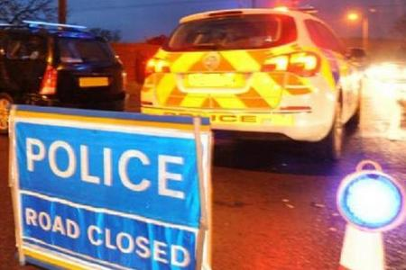 Hampshire road blocked after crash