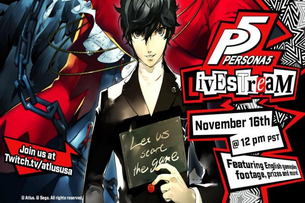 Persona 5 - livestream event and new trailer