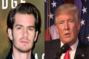 Donald Trump needs a kiss to calm down, actor Andrew Garfield says