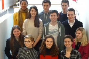 11 of the 15 students from the Barton Peveril Sixth Form College who received the offers from Oxford and Cambridge.