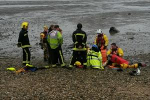 A 15-year-old has been rescued from Hythe Marina after becoming trapped in mud