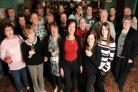 Hampshire landlady Mandy Emmerson is leaving the Gvrove Tavern, in Southampton, after 24 years (Pictured in red)