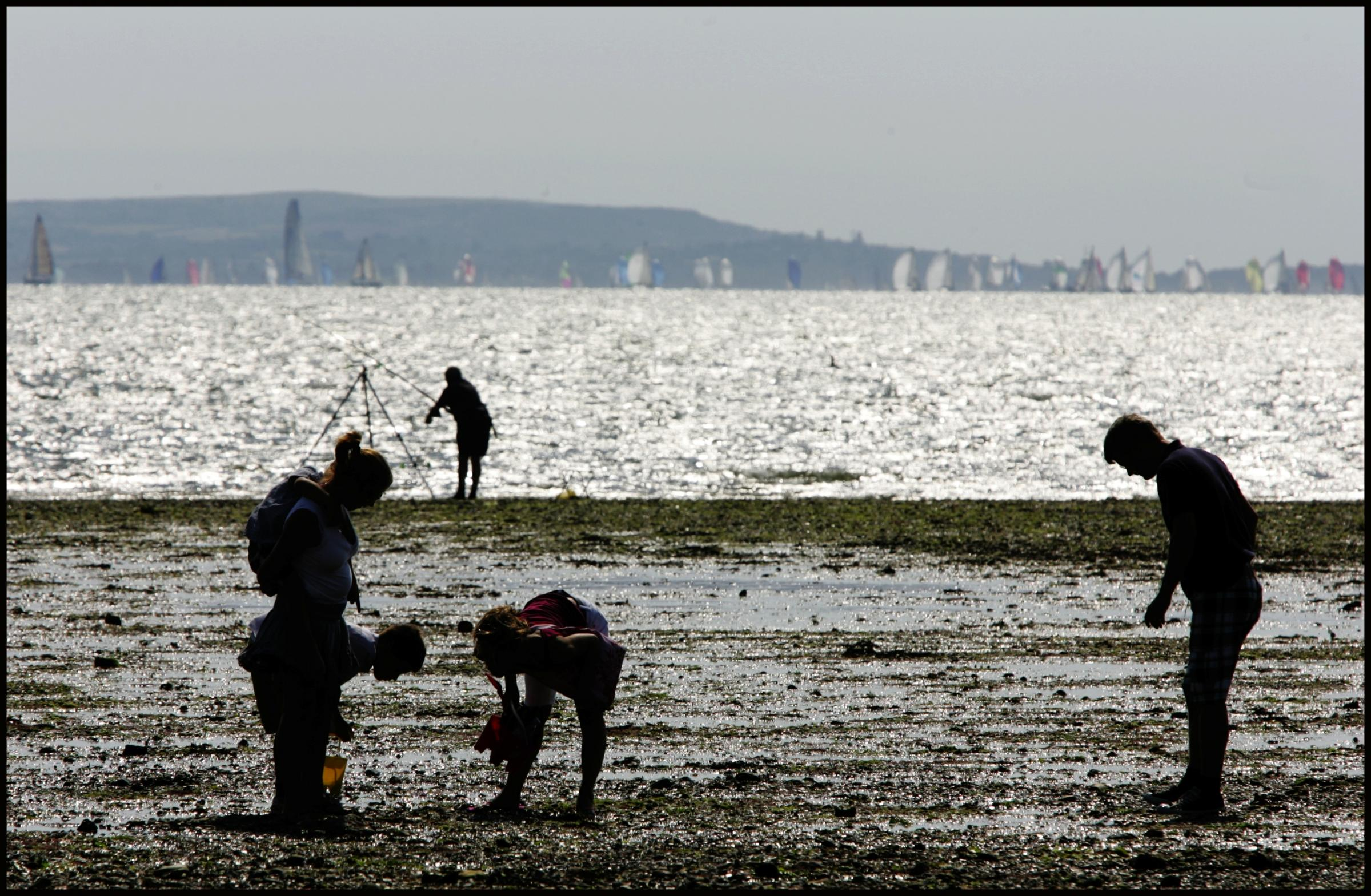 Low-tide at Lepe beach.