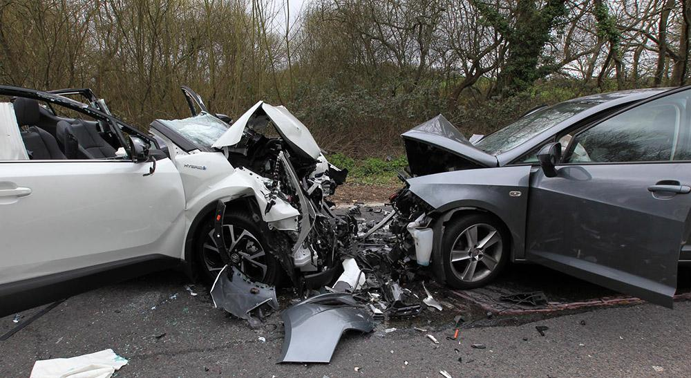 air ambulance called after two car crash closed marchwood bypass