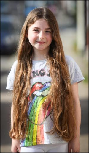Daily Echo: An eight-year-old girl has donated her hair to charity - click here for pictures and the full story.