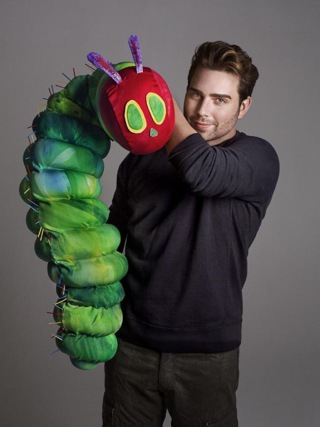 Jonathan Rockerfeller with the Very Hungry Caterpillar