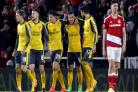 Mesut Ozil hits winner as Arsenal keep alive top-four hopes at Middlesbrough