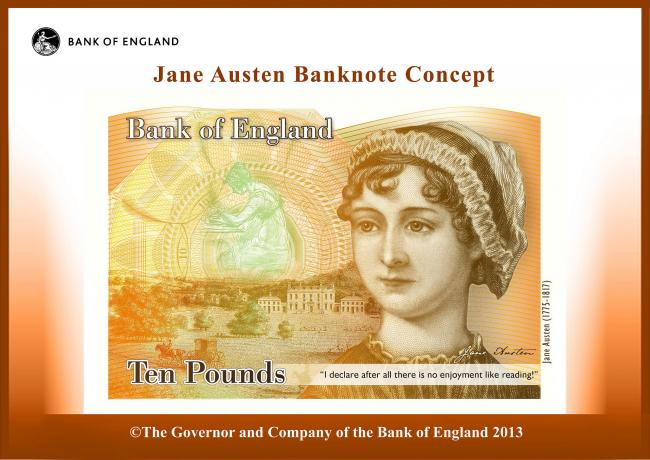 A concept image of the new £10 note