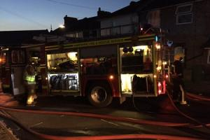 Crews battle the blaze on Southcliif Road