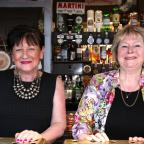 Daily Echo: Kay Hall and landlady Pam Pearce, right. The Freemantle Arms, Albany Road, Freemantle.              Picture: Chris Moorhouse.