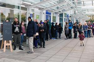 Customers queue for opening of new Southampton shop