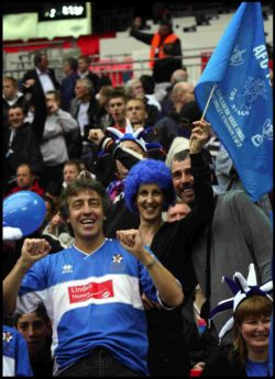 Totton fans at Wembley in 2007