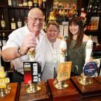 Daily Echo: Bob, Marilyn and Susan Forster pictured behind the bar.