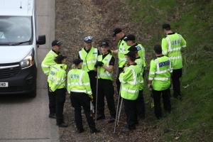 Police searching near the M27 as part of the murder investigation